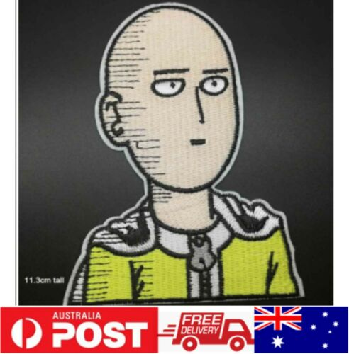 1pc One Punch Man Anime Badge Iron on Sew on Patch Embroidered Cloth