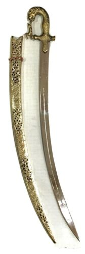 Handcrafted Indian Rajput Wedding Sword with sheath golden Hilt 34 inches