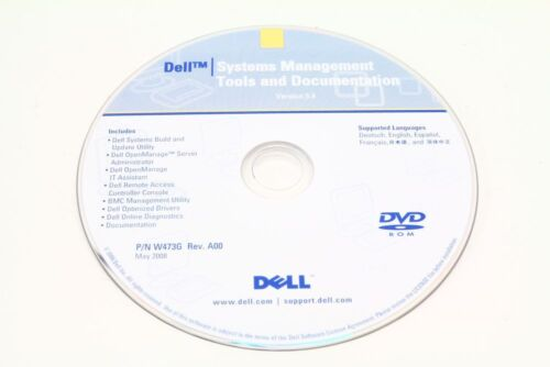 Dell P/N W473G Systems Management Tools And Documentation Version 5.4 Dvd-Rom