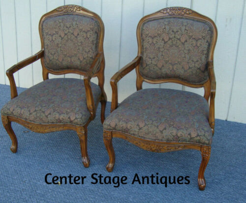 61394  Pair Bergere Armchair Chairs