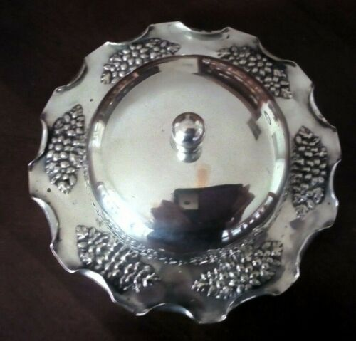 ANTIQUE JBC&S SILVER PLATE BUTTER DISH with GLASS INSERT..c1880-1936