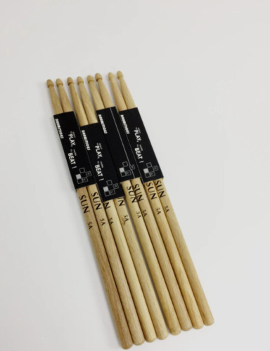 8PCS(4Pairs) Drum Sticks 5A Classic Drumsticks Wooden Tip Instrument Access