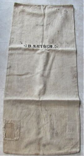 ANTIQUE FEED GRAIN BAG CLOTH FROM ALMOST 100 YEARS OLD