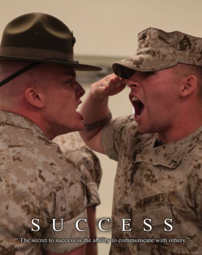Us Military Motivational Poster Print Marines Drill Instructor Sniper Success