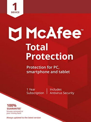 McAfee Total Protection  1 PC 1 ANNO  2021