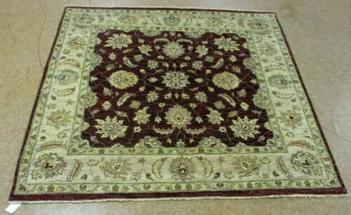 """6' x 6'1"""" Tribal Hand Knotted Area Rug No: H 145288"""
