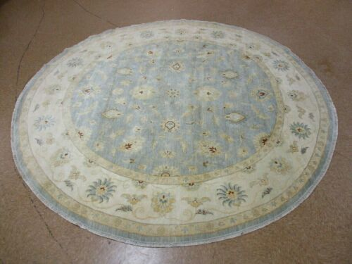 """9'10"""" x 9'10"""" Tribal Hand Knotted Round Area Rug No: H 1452401"""