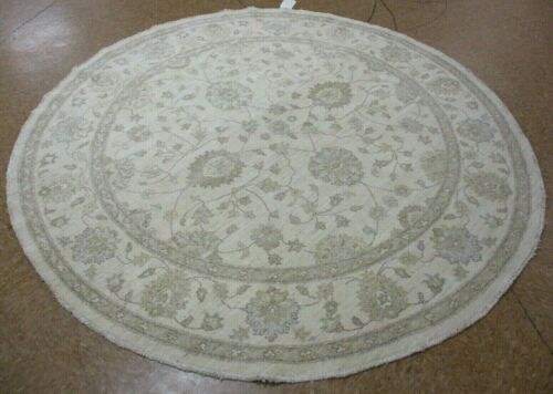 """6'1"""" x 6'1"""" Tribal Hand Knotted Round Area Rug No: H 142473"""