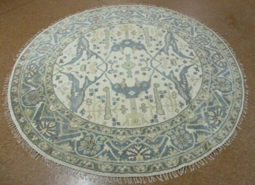 8' x 8' Tribal Hand Knotted Round Area Rug No: H 145771