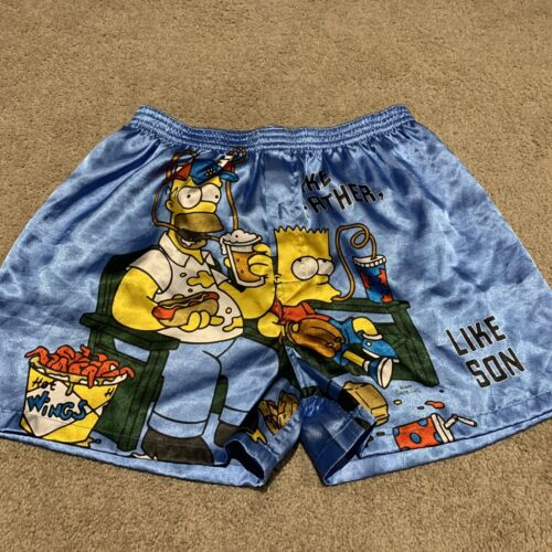 Vintage - The Simpsons Satin Boxers - Like Father Like Son
