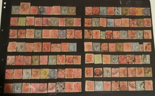 Aus States on Hanger - 2 Pages - 120+ Stamps in Total
