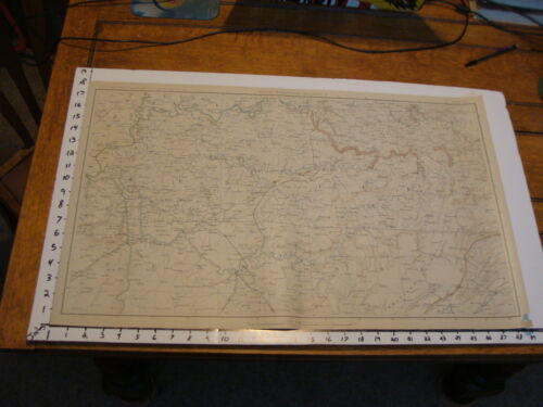 "1891 Civil War Map 18"" X 29"": Topographical Plate CL: NASHVILLE, KNOXVILLEMaps & Atlases - 156381"