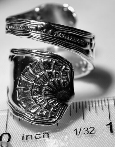 TIFFANY & CO WAVE EDGE 1888 STERLING SILVER Spoon Ring Free Shipping