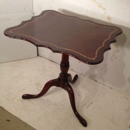 Antique Mahogany Leather top Stand.C10PiX.Local Pickup Virginia Only. MAKE OFFER