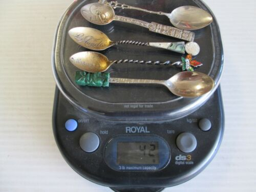 LOT OF 5 STERING SILVER SPOONS 42 GRAMS