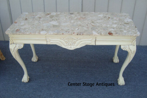 61907 Marble Top Console Table Sideboard Server  with DRAWER