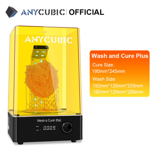 Pre-Order*Anycubic Grande Wash and Cure Plus 360° UV curing For LCD Stampante 3D <br/> 🔥Early Bird Price:145€🔥15,Apr-22,Apr,192*120*290mm🔥