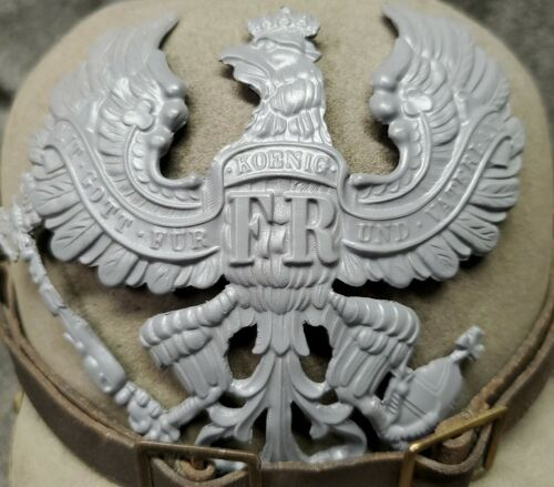 WWI Reproduction Prussian Pickelhaube Helmet Plate with Gray FinishGermany - 156409