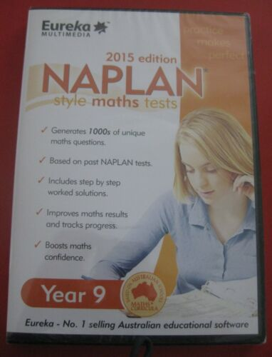 1 X PC CD - NAPLAN STYLE MATHS TESTS - YEAR 9 - 2015 EDITION -  STILL SEALED