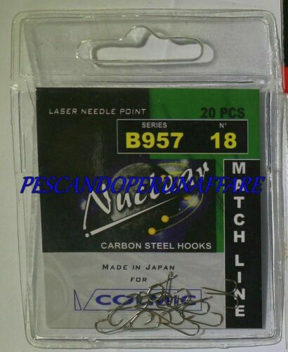 COLMIC NUCLEAR SERIES B957 carbon steel hooks BRONZED made in japan