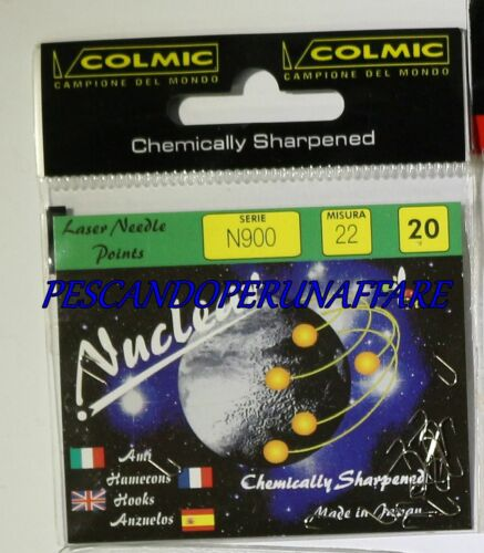 COLMIC NUCLEAR SERIES N900 carbon steel hooks NICHELED made in japan