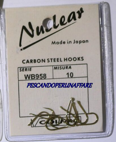 COLMIC NUCLEAR SERIES WB958 carbon steel hooks BRONZED made in japan