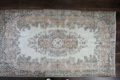 Vintage Turkish Rug,Oushak Area Rug,Muted Handwoven Wool Antique  3'9x6'8 ft