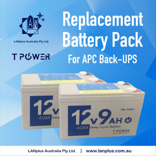 New Replacement Battery Pack 4 APC Back-UPS RS1500 XS1500 SC1000 RBC33 Warranty