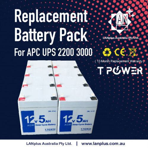 Replacement Battery Pack RBC43 for APC UPS 2200 3000 2U 12-mth Warranty SUA3000