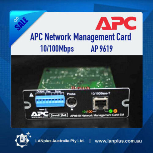 APC 10/100Mbps Network Management SNMP Card AP9619 >9617 for Smart UPS Warranty