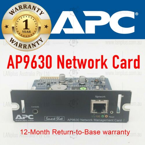APC Smart UPS 10/100Mbps Network Management Card 2 AP9630 Tested & Reset to Def