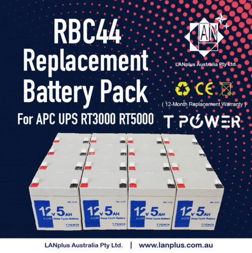 OEM APC RBC44 Replacement Battery Pack Smart UPS RT3000 RT5000 SURTD3000
