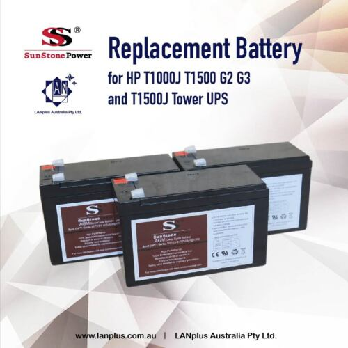 New UPS Replacement Battery for HP T1000J T1500 G2 G3 & T1500J AF451A AF406A OEM