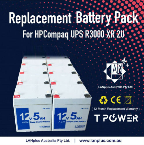 New HP R/T3000I G2 2U 3000VA UPS Replacement Battery Pack High Rate 637301-003