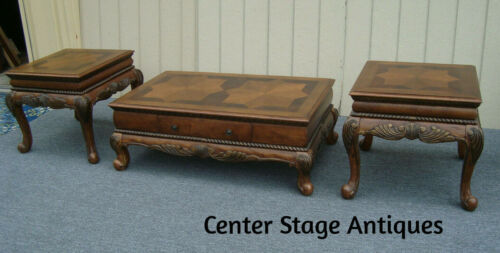 61286   Coffee Table with DRAWER +   2 End Tables  3 piece set