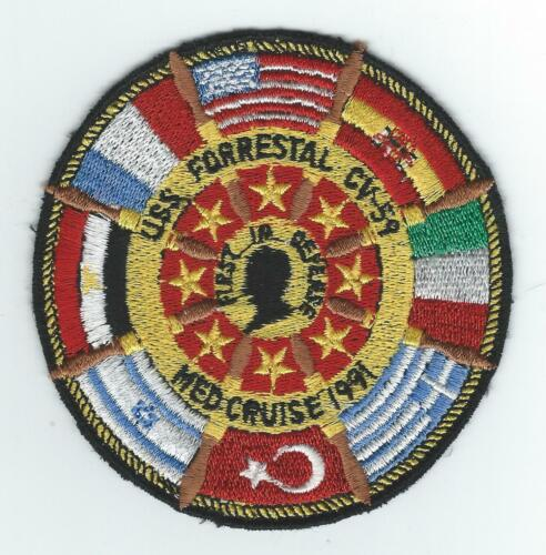 CV-59 USS FORRESTAL MED CRUISE 91(THEATER MADE) patchOriginal Period Items - 10953