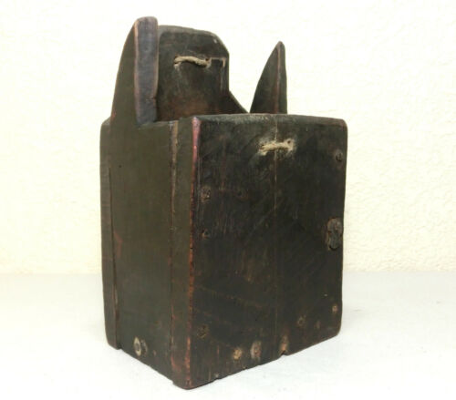 Antique primitive Authentic 1800's Old Rustic Kitchen Wooden Hanging Wall Box