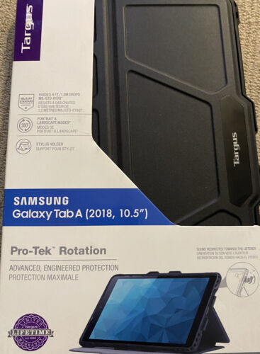 """Targus Click-In Case 360 Cover for Samsung Galaxy Tab A 10.5"""" (2018) Black, NEW"""