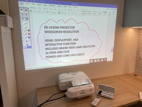 (NEW LAMP) EPSON EB-1410Wi INTERACTIVE ULTRA SHORT THROW PROJECTOR