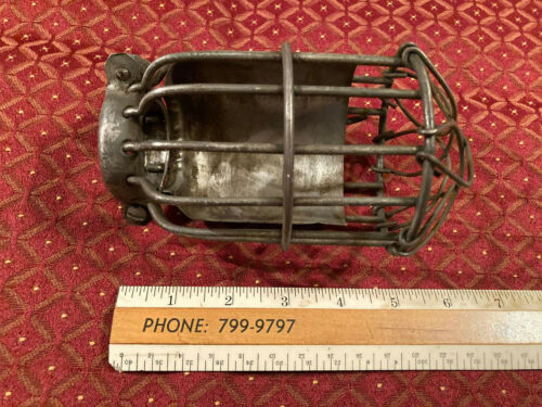 Antique Trouble Light Wire Cage, Light Part, Industrial, Free S/H