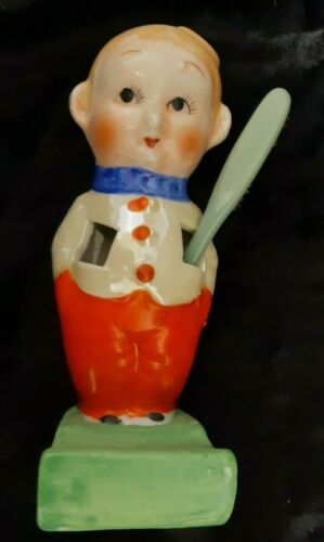 Novelty Child's 1930s Ceramic VINTAGE TOOTHBRUSH HOLDER excellent condition