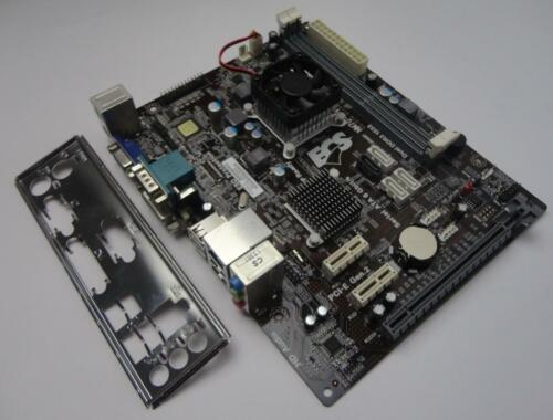 Genuine ECS NM70-M V:1.0 Intergated CPU Motherboard Complete With I/O Plate