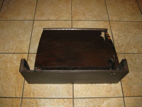 Singer Treadle Sewing Machine Dust Cover Older Style for slide out drawer - Dark