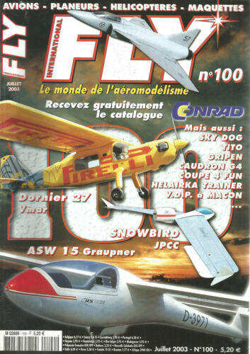 FLY N° 100 PLAN : HELAIRKA TRAINER / SKY DOG / TITO / CAUDRON G4 / COUPE 4 FUN