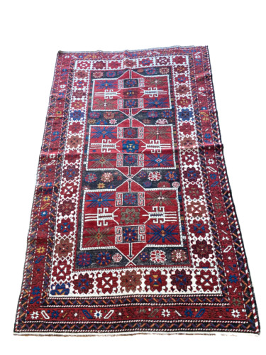 Antique Tribal Area Rug from Caucasus -  Shirvan - 4 ft by 7ft