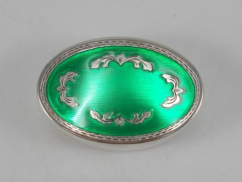 Rare Big Pill Box/Jewelry Box With Enamel From 800er Silver, Italy #5