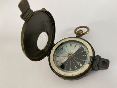 Compass Singer's Patent Prismatic C.1868 - Rare Mother of Pearl Face