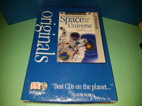 Rare New Sealed Eyewitness ENCYCLOPEDIA OF SPACE AND THE UNIVERSE PC CD Rom