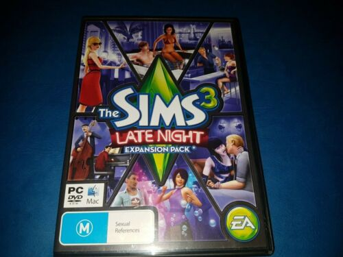 Sims 3: LATE NIGHT EXPANSION PACK PC DVD ROM MAC IN VGC