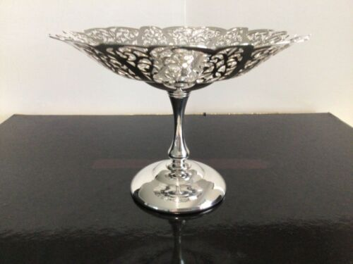 Vintage 'Rosepoint ~ Paramount' Small Silver Plated Compote / Pedestal Dish